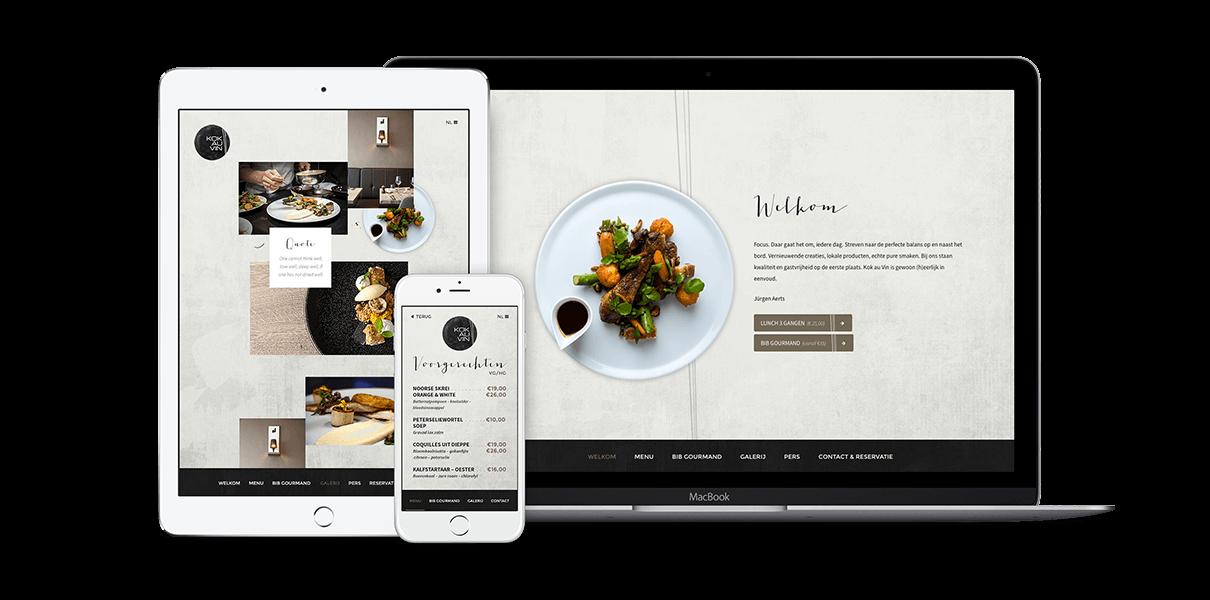 Responsive webdesign Kok au Vin - Webdesign Weblounge Bruges