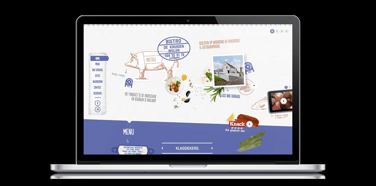 Bistro De Kruidenmolen - Webdesign Weblounge Bruges