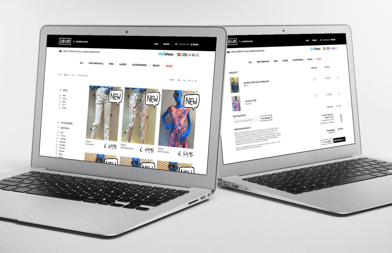 Webshop Leeloo - Webdesign Weblounge Brugge