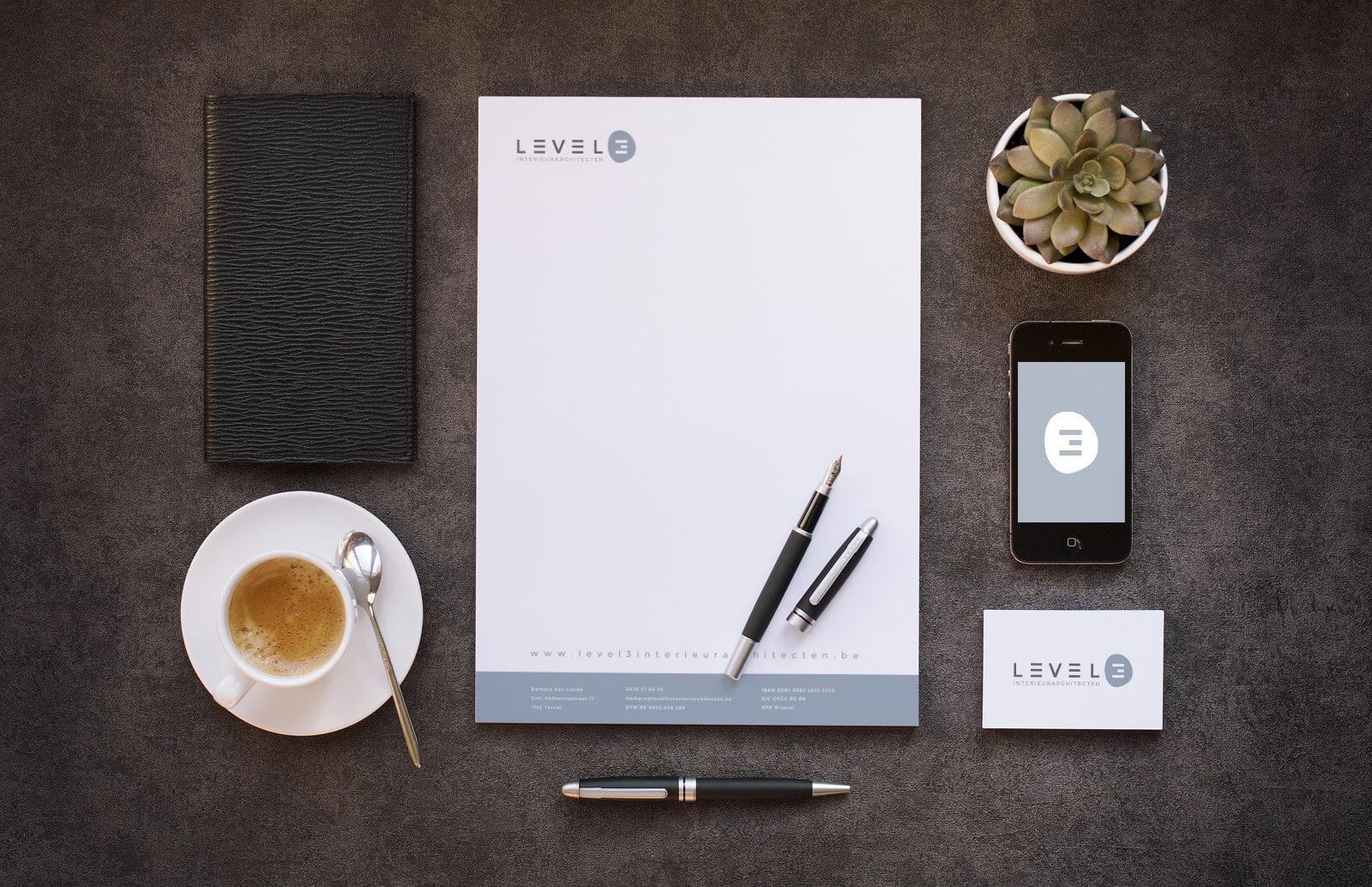 Branding Level3 - Webdesign Weblounge Bruges
