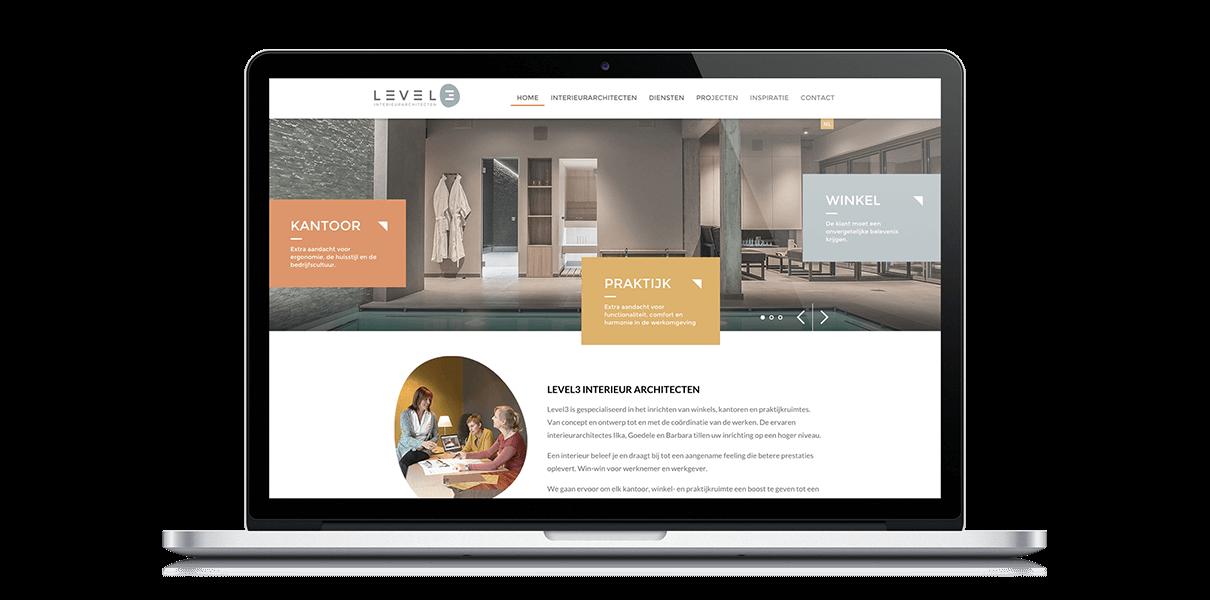 Level3 Webdesign - Webdesign Weblounge Brugge