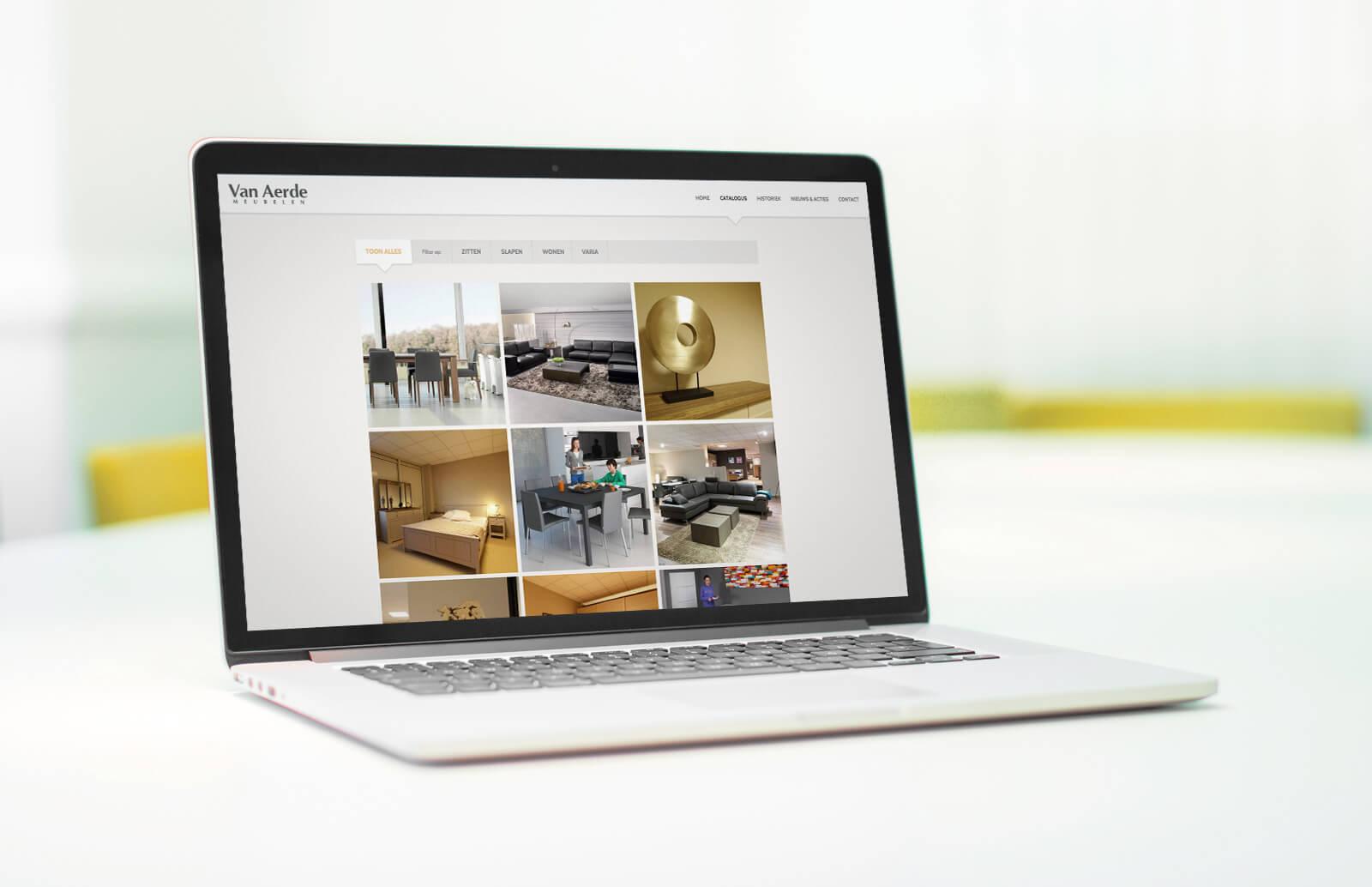 Website Meubelen Van Aerde - Webdesign Weblounge Bruges