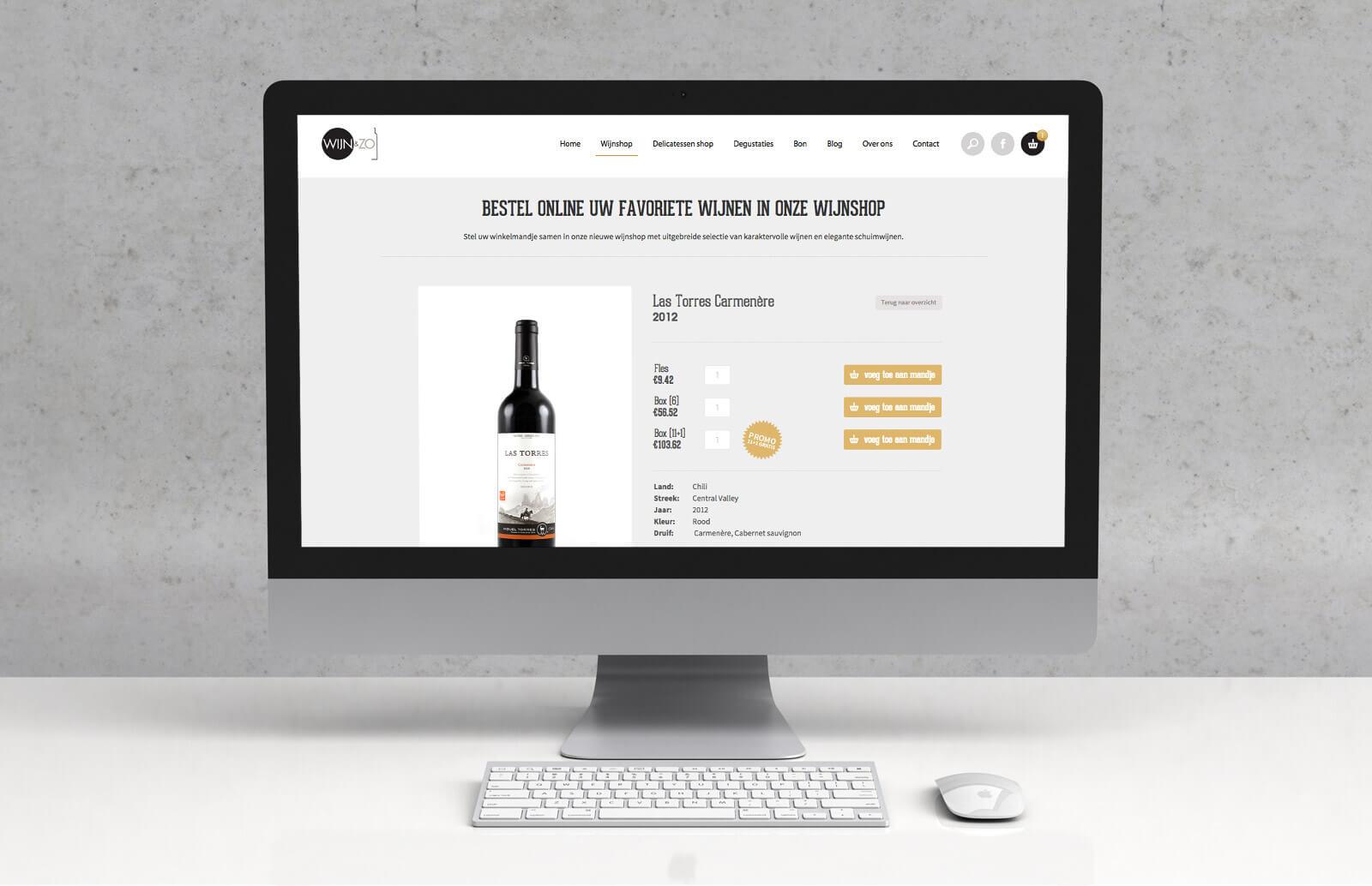 Webdesign Wijnenzo - Webdesign Weblounge Brugge