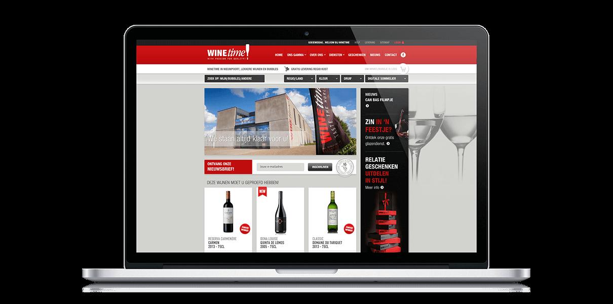 Webshop Winetime - Webdesign Weblounge Bruges